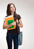 Young student girl. Royalty Free Stock Image