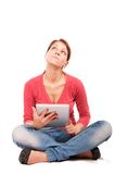 Young student girl with tablet pc Royalty Free Stock Image