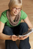 Young student with glasses Stock Images