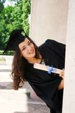 Young student in gown Stock Images