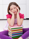 Young student with a headache Royalty Free Stock Photo