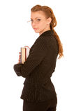 Young student holding books Stock Photo
