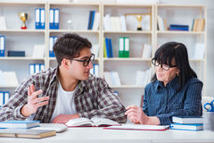 The young student during individual tutoring lesson Stock Photography