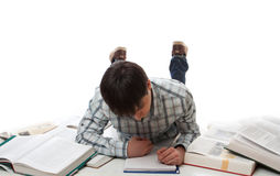 The young student isolated on a white Stock Images