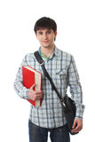 The young student isolated on a white Royalty Free Stock Photo