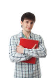The young student isolated on a white Stock Photography