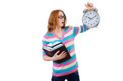 Young student isolated Stock Images
