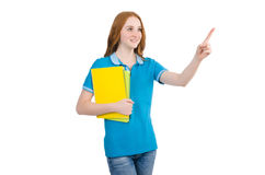 Young student isolated Royalty Free Stock Photos