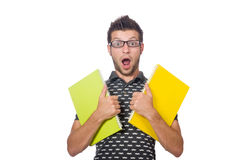 Young student isolated Royalty Free Stock Image