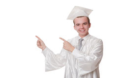 Young student isolated Royalty Free Stock Photography