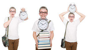 The young student isolated on white Royalty Free Stock Image