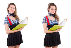 The young student isolated on the white Royalty Free Stock Photography