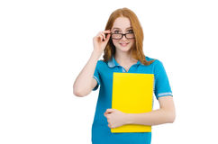 Young student isolated Royalty Free Stock Images