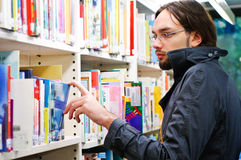 Young student in the library Stock Photography