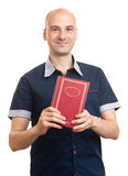 Young student man with a book Royalty Free Stock Photo