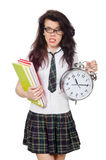 Young student missing exam deadline Stock Images