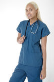 Young student Nurse in scrubs Royalty Free Stock Photo