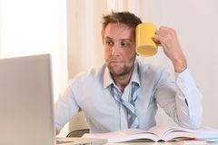 Young Student Overwhelmed Stock Image