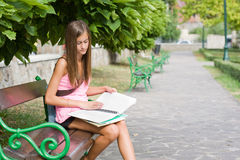 Young student preparing. Royalty Free Stock Photo
