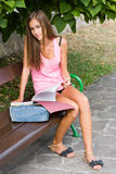 Young student preparing. Stock Photos
