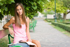 Young student preparing. Stock Image