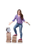 The young student preparing for school exams Stock Image