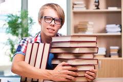 The young student preparing for university exams Stock Image