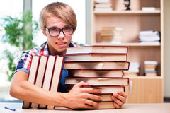 The young student preparing for university exams Stock Images