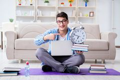 The young student preparing for university exams Royalty Free Stock Photography
