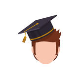 Young student profile Royalty Free Stock Images