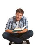 Young student reading Stock Photo