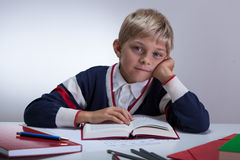 Young student reading a book Stock Photos