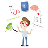 Young student science symbols Stock Photo