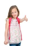 Young student showing thumbs up. Royalty Free Stock Photography