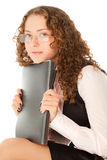 Young student sitting with folder Stock Photography