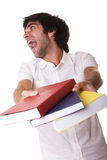 Young student stress Royalty Free Stock Photos