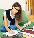 Young student study at home Royalty Free Stock Photo