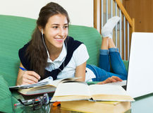 Young student study at home Royalty Free Stock Images