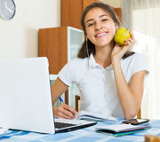 Young student study at home Royalty Free Stock Photos