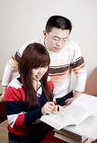 Young student studyig. Two asian young studnt studying Stock Photography