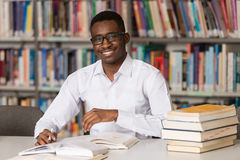 Young Student Studying At College Stock Photo