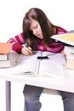 Young student studying for exams Stock Photo
