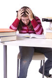 Young student studying for exams Stock Image
