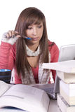Young student studying for exams Stock Photography