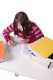 Young student studying for exams Stock Images