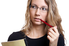 Young student thinking Royalty Free Stock Image