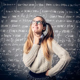 Young student thinking Stock Image