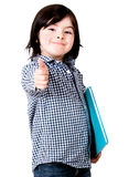 Young student with thumbs up Royalty Free Stock Images