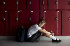 Young student torturing of school bullying royalty free stock photos