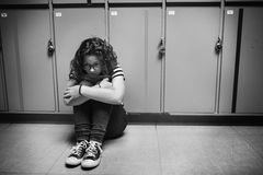 Young student torturing of school bullying Royalty Free Stock Image